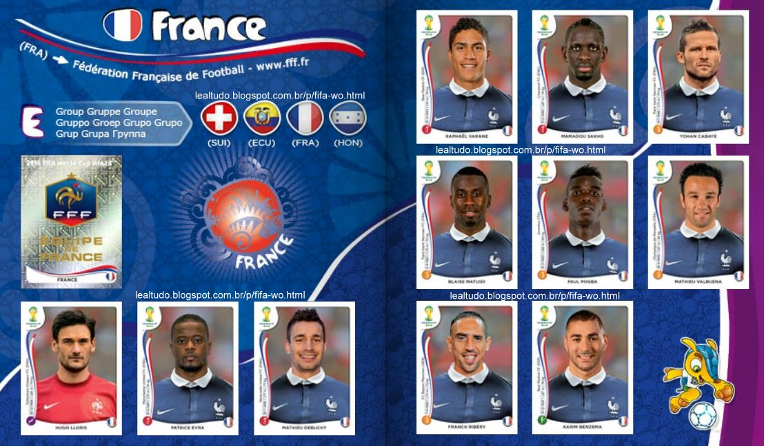 Album FRANCE - FRANÇA Fifa World Cup BRAZIL 2014 LIVE COPA DO MUNDO Sticker Figurinha Download Lealtudo