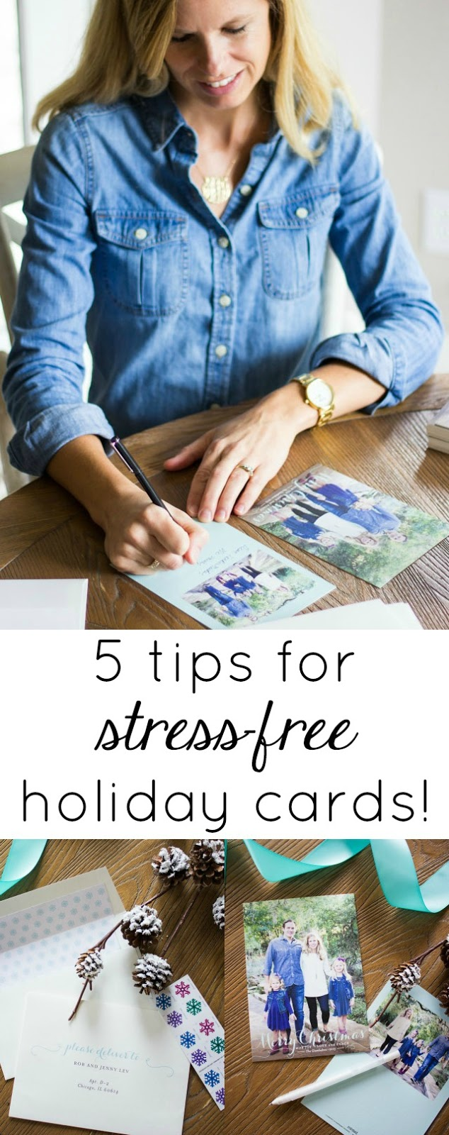 5 tips for stress-free holiday cards!