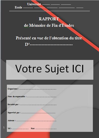 telecharger page de garde rapport de stage word