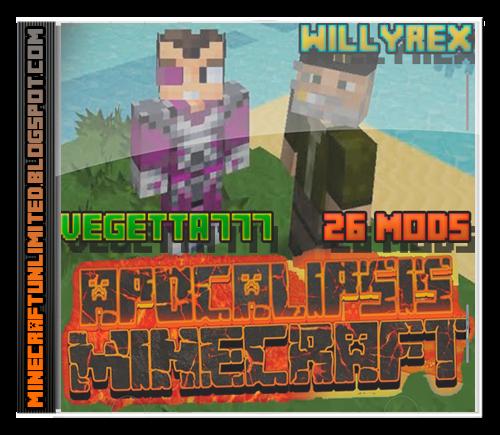 Apocalipsis Minecraft Willyrex y Vegetta777 Mods Pack [26 Mods ...