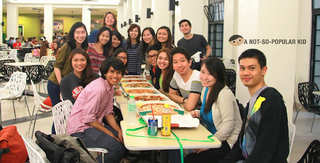 110 & 109 BSA and COM-BSA Students in Perico's Canteen