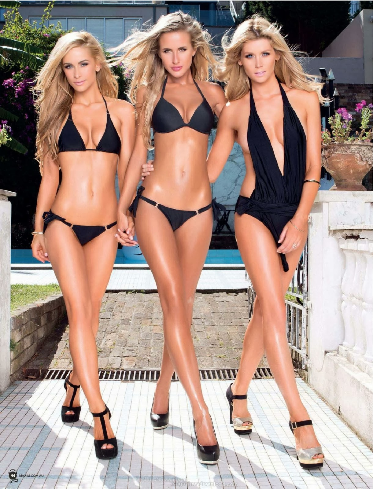 Ellie Gonsalves, Renee Somerfield And Sheridyn Fisher Photoshoot For Maxim Magazine Australia February 2014