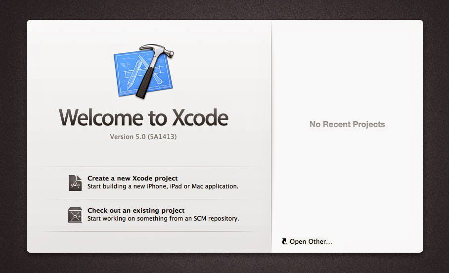 Welcome to Xcode