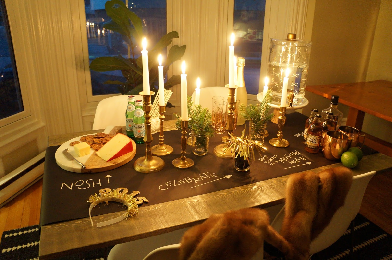 New Year's Eve Tablescape; Party, NYE
