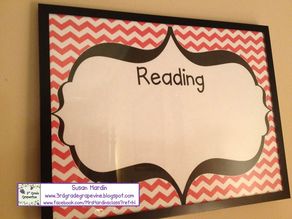 3rd Grade Grapevine: DIY: Making Chevron Subject Frames to display ...