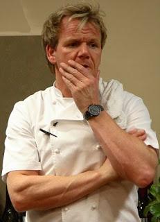 Gordon Ramsay's hand.