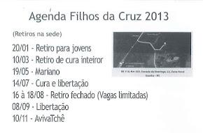 Agenda 2013 - Retiros Comunidade Filhos da Cruz