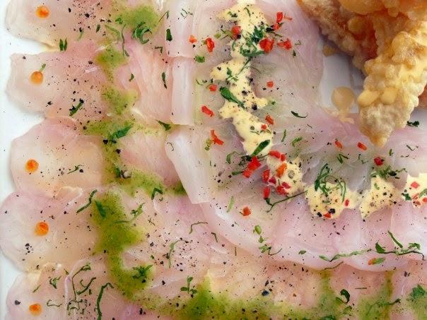tiradito de salmon y lenguado