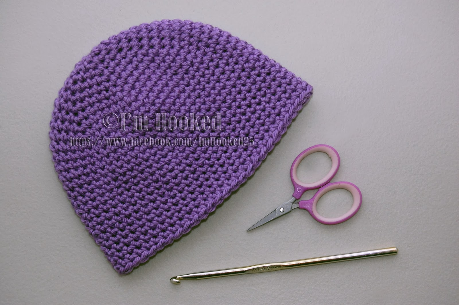 Basic Crochet Patterns : Free Crochet Pattern: Basic Beanie (Single Crochet)