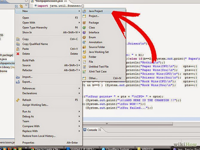 how to create a java project in eclipse luna