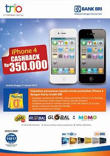 Cashback Rp 350.000 dengan BRI