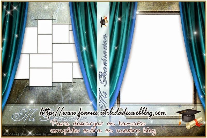 Plantilla para dvds de graduación color azul aqua