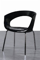 EHO Studios Black ABS Plastic Dining Chair