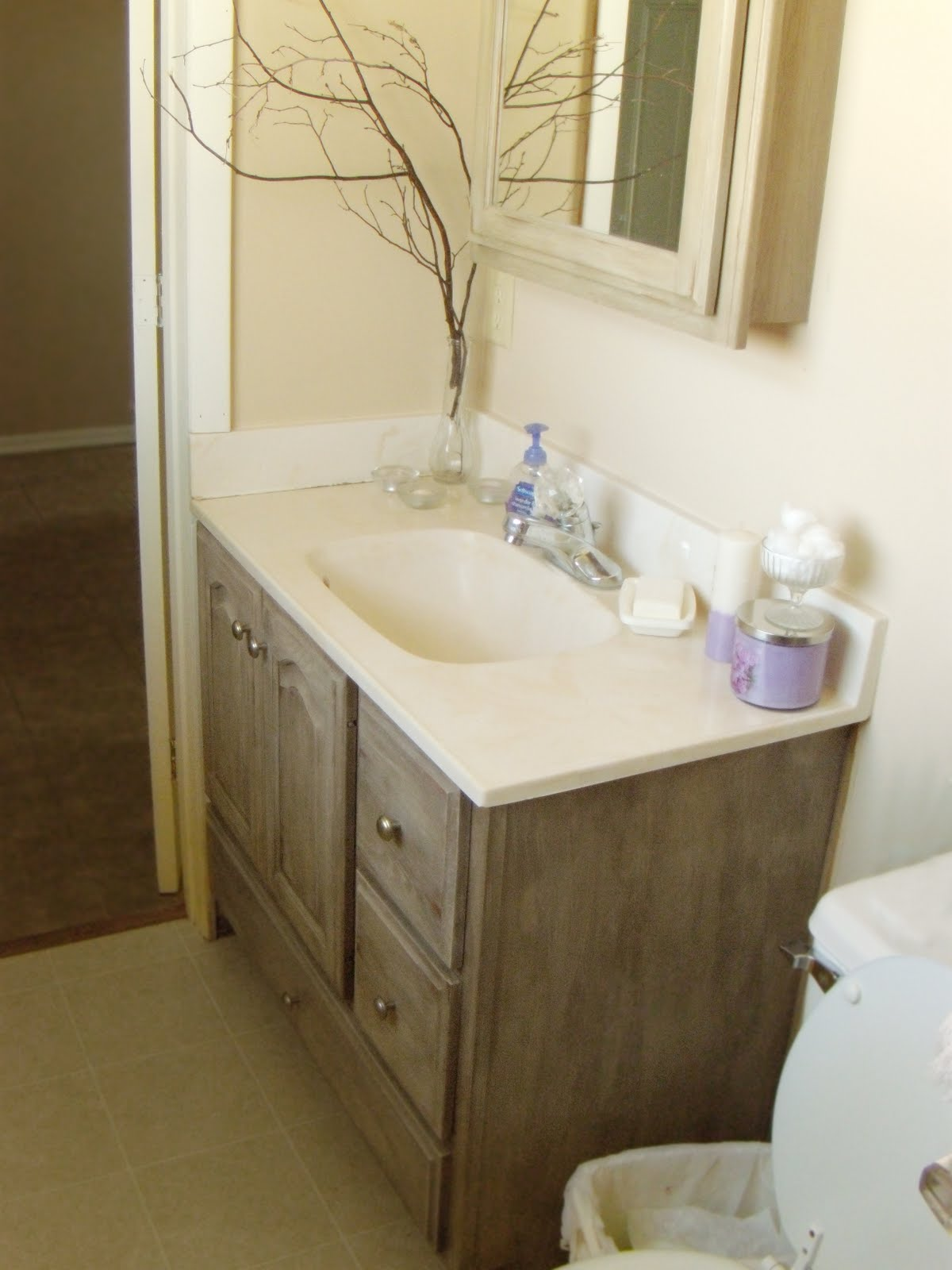 Redo Bathroom Cabinets Entrancing Down On Sanford Bathroom Vanity Redo Design Inspiration