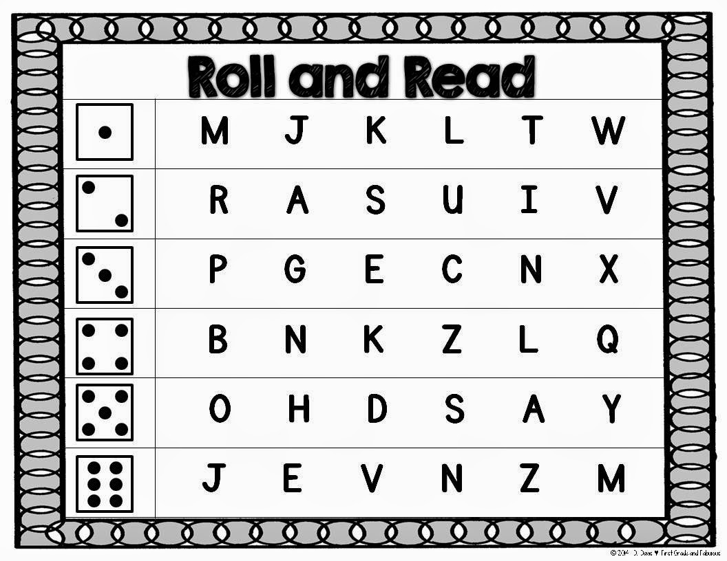 Roll and Read--Letters/Sounds