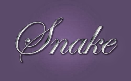 Snake Skin Text Effect in Photoshop
