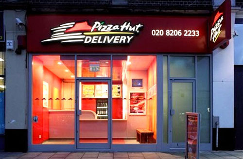 Pizza Hut Delivery Concept shopfront