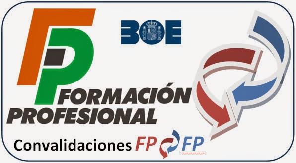 - Convalidaciones FP-FP (distintos sistemas educativos)