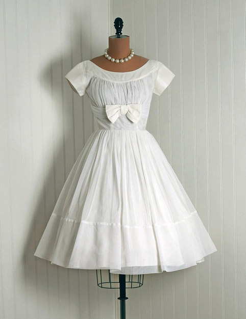 1950s vintage lace and yellow taffeta wedding dress
