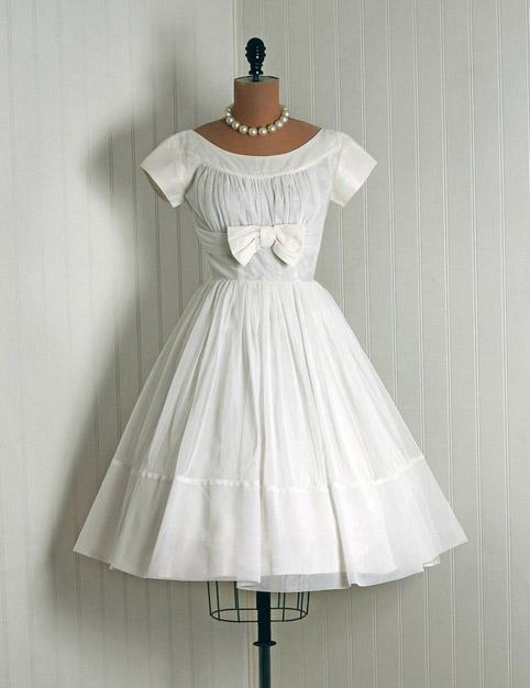 1950s vintage lace and yellow taffeta wedding dress