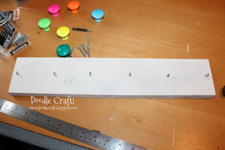 Doodlecraft Upcycled Knob Hanging Coat Rack or Jewelry Organizer