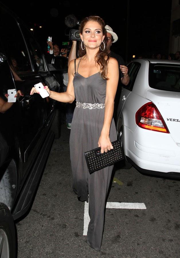 MARIA MENOUNOS Leaving Sayers Nightclub party