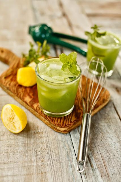 Honey and Mint Cucumber Lemonade