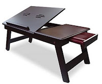 Buy Onlineshoppee High Quality Wooden Foldable Laptop Table (Brown) at Rs.699 (After cashback) : Buytoearn