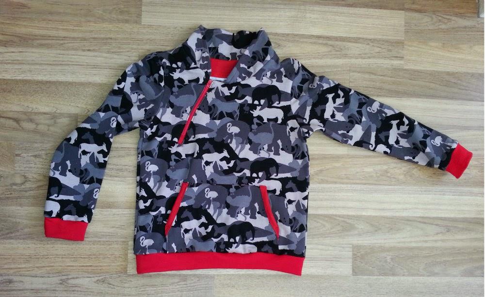 Camouflage joggingstof trui