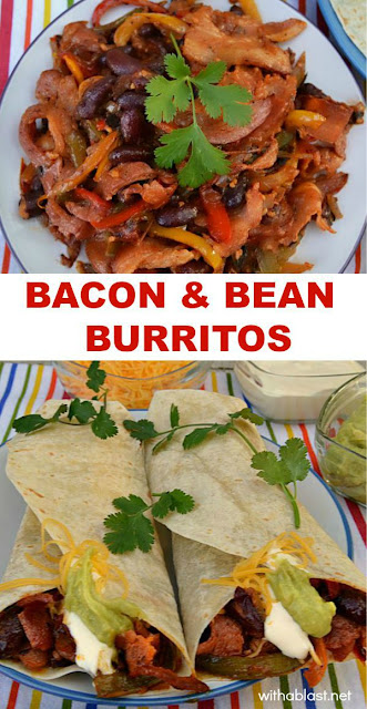 Bacon and Bean Burritos