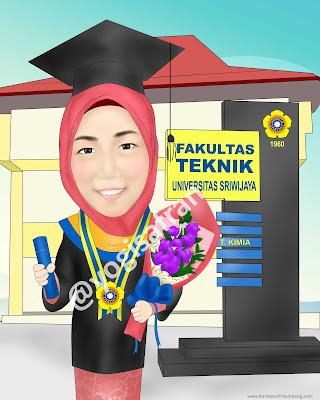 Karikatur Wisuda Palembang