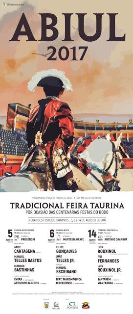ABIUL (PORTUGAL) DIA 05-06 Y 14 DE AGOSTO. ESTA É A SUA TRADICIONAL FERIA TAURINA.