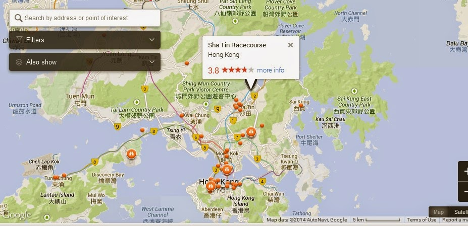 Sha Tin Racecourse Hong Kong Map Hong Kong Tourist Destinations – Hong Kong Tourist Attractions Map