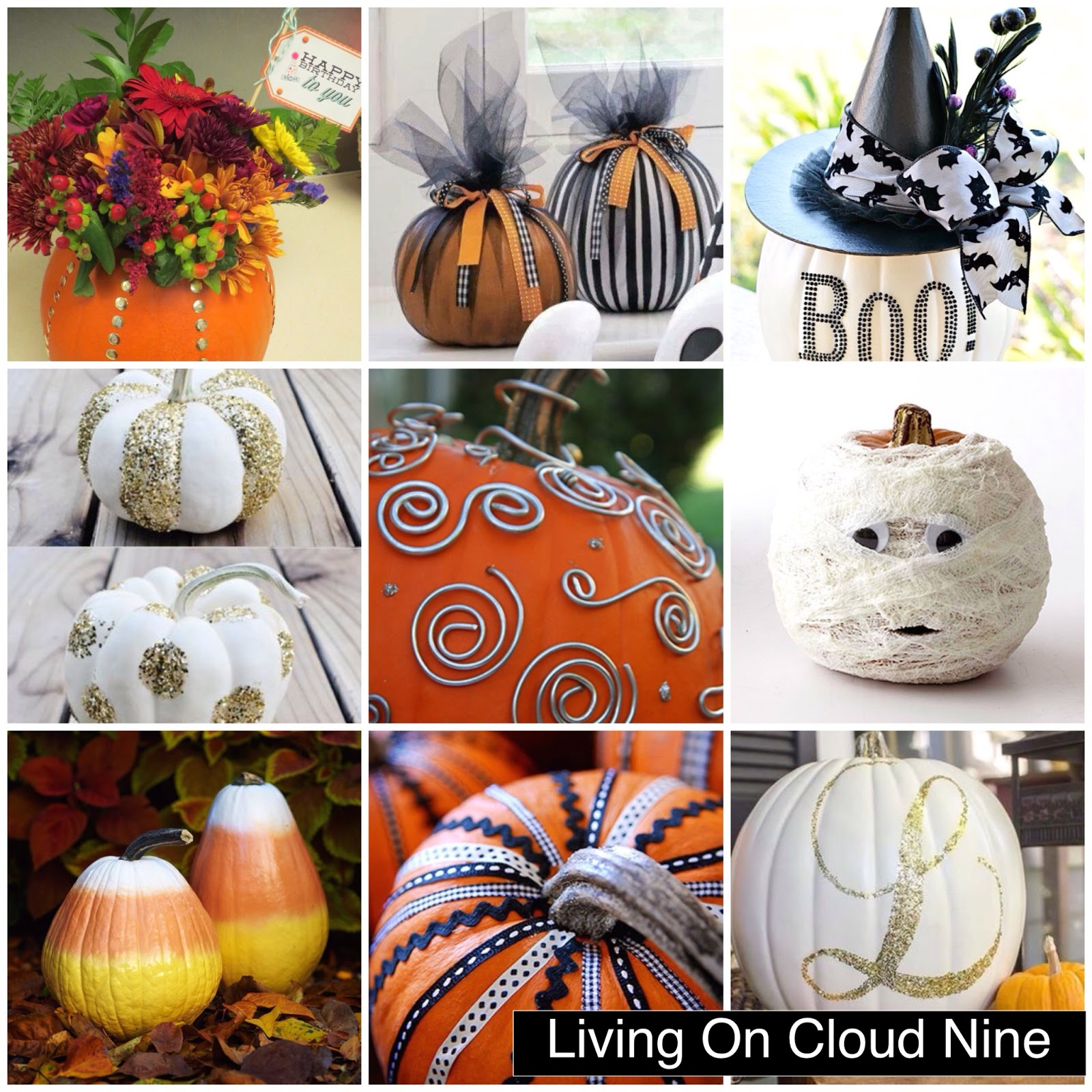 living on cloud nine 9 easy pumpkin decorations