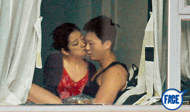 VINCENT WONG & Yoyo Chen photographed getting intimate