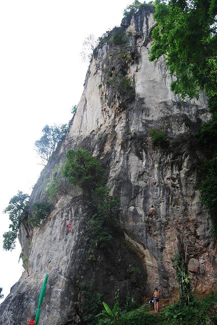 Railay одно из лучших мест для скалолазания.