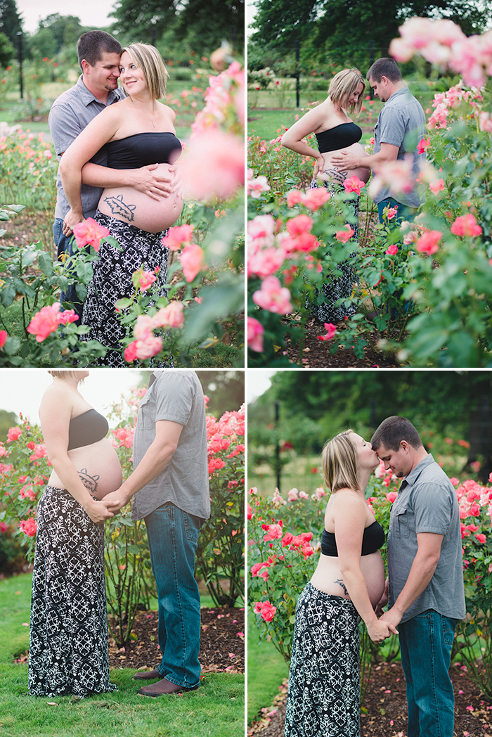 rose garden maternity photos