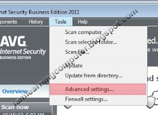 1 Advanced setting AVG Internet security