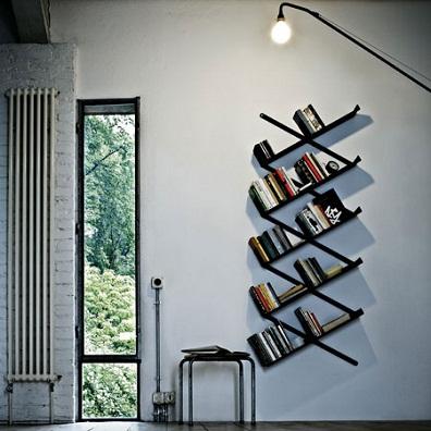 dekoratif+kitaplik Modern Tasarım Kitaplık Modelleri