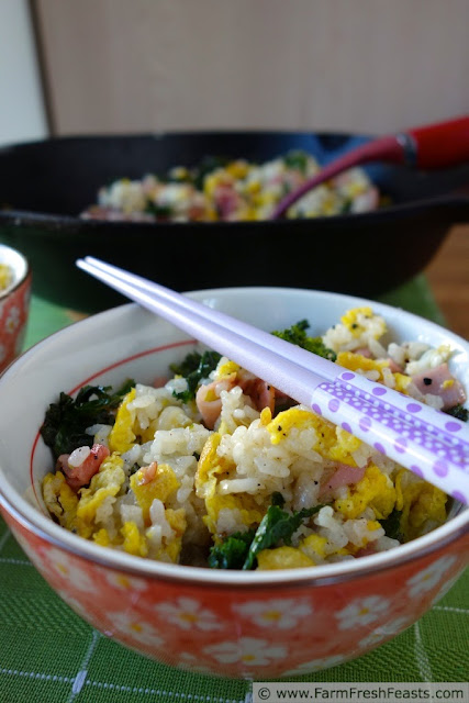 Fried Rice with Massaged Kale | Farm Fresh Feasts