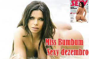 Miss Bumbum 2015 Suzy Cortez pelada na Sexy de dezembro