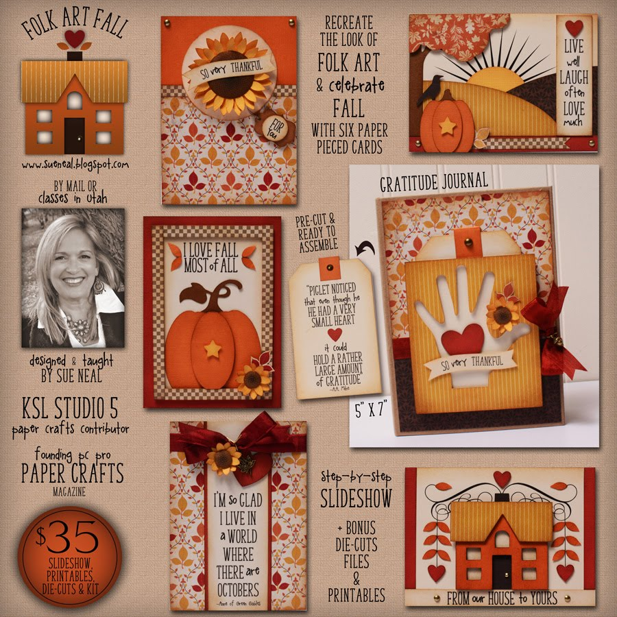 Folk Art Fall Cards & Gratitude Journal