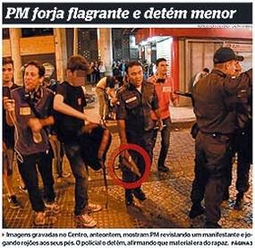 PM forja flagrante