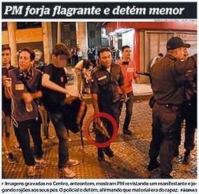Polícia Militar forja flagrante e detém menor