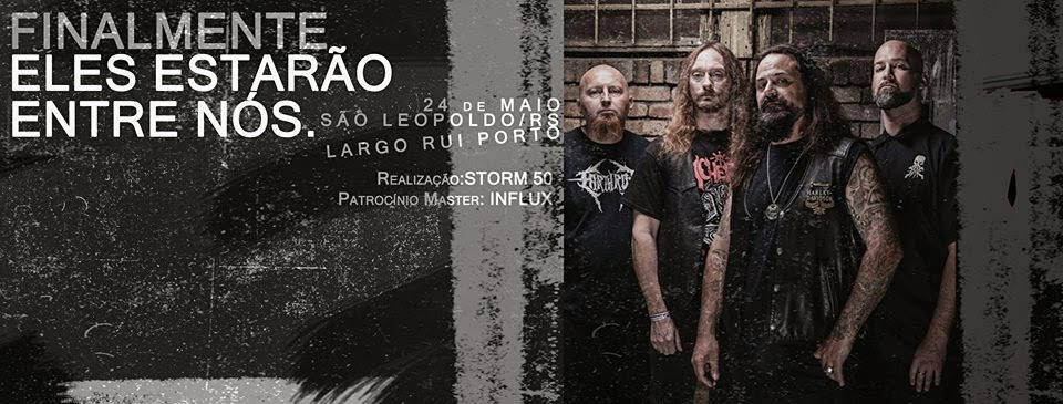 E a lenda do Death Metal desembarca pela primeira vez no RS!