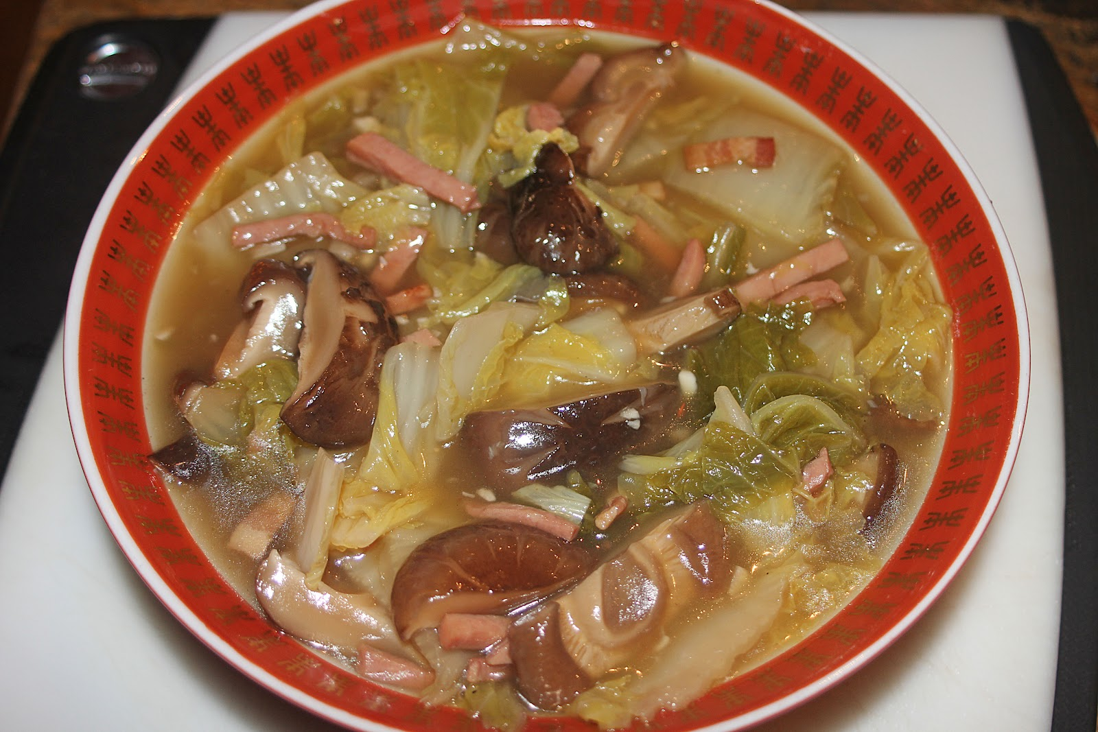 ... Cooking with Camissonia: Braised Napa Cabbage with Shiitake Mushrooms