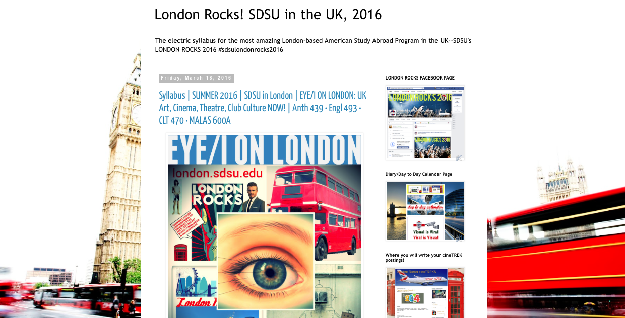 Eye/I on London Course Syllabus