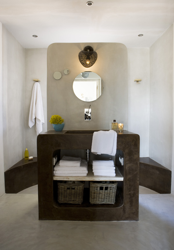 Baños Microcemento Pulido:Baños Cemento Pulido: Bealmortex color revoco continuo con la est