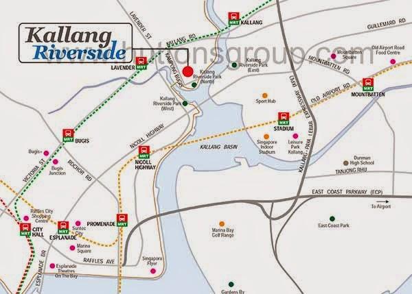 Kallang Riverside Location Map