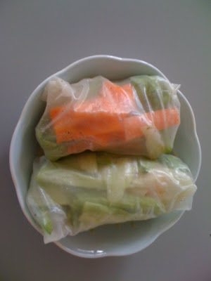 Vegetarian spring roll with vegetables